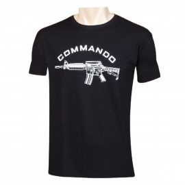 T-Shirt  Commando  M4 Preta
